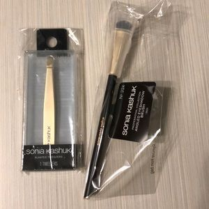 Sonia Kashuk slant tweezer and angled brush